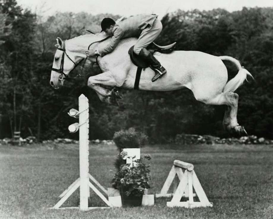 After being rescued from a glue factory, Snowman went on to win the triple crown of show jumping, beating the nation's blue bloods. (photo provided)
