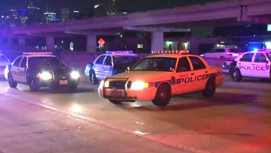 A woman died after she was hit by an 18-wheeler on I-45 near Scott on Tuesday, Jan. 8, 2019. Photo: Metro Video