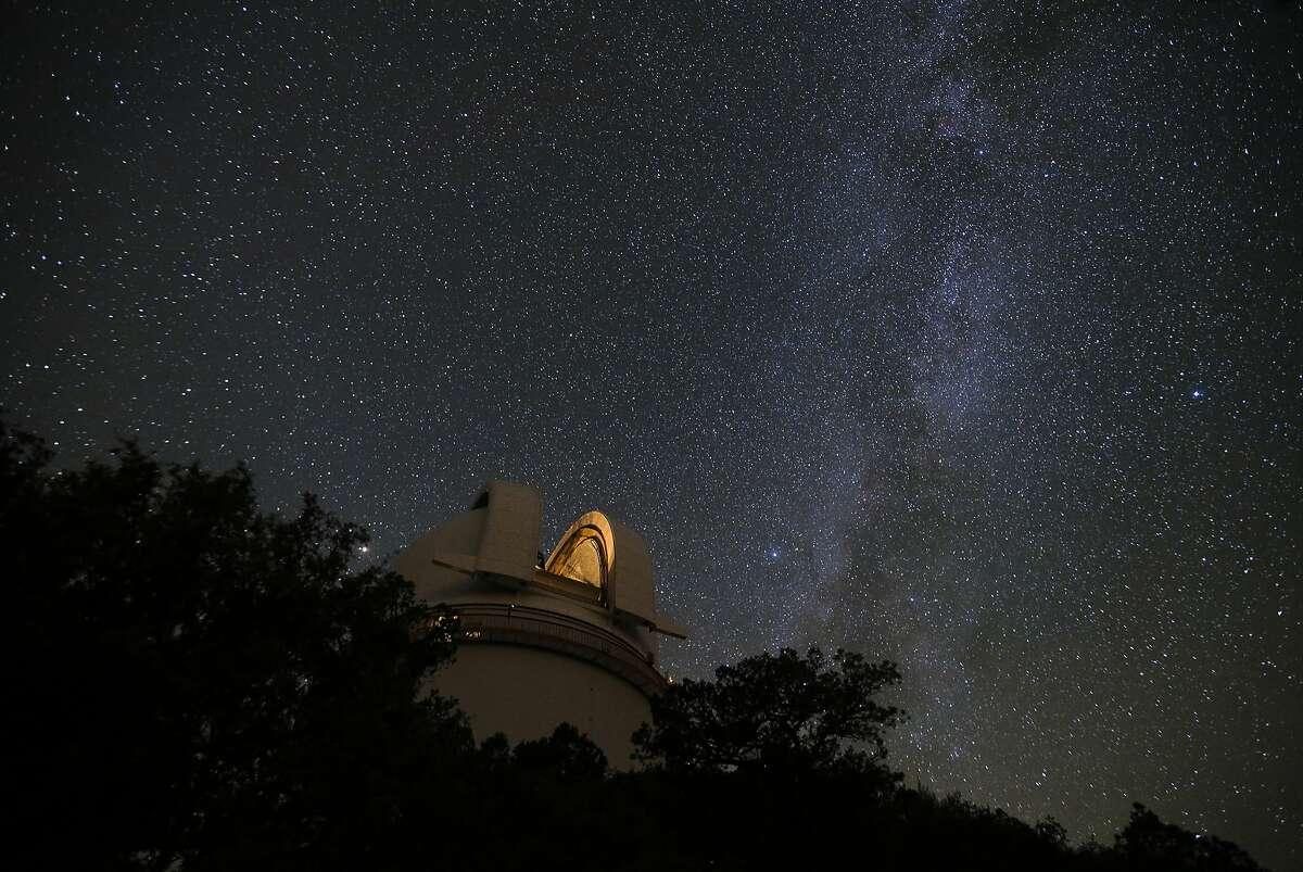 The Milky Way Galaxy streams across the sky above the McDonald Observatory. (Ryan Michalesko/The Dallas Morning News/TNS)