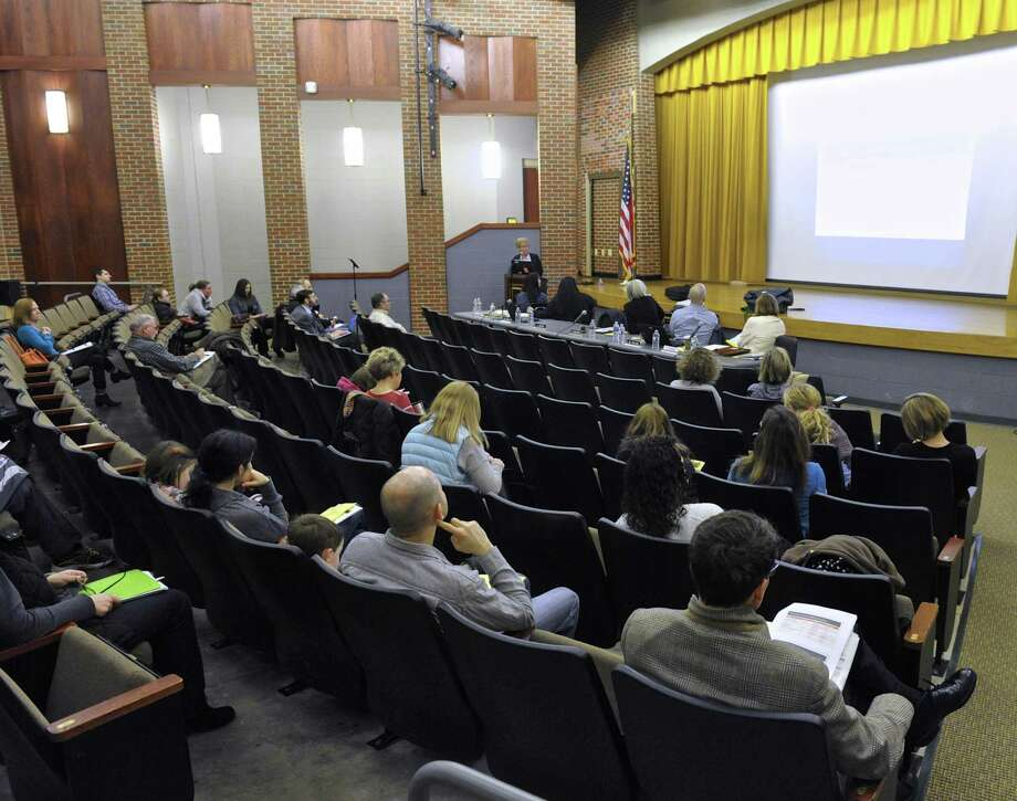 File photo of past Ridgefield Board of Education public hearing on the school budget at Scotts Ridge Middle School. Photo: H John Voorhees III / Hearst Connecticut Media / The News-Times