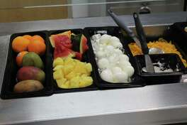 Texas Emergency Hospital's cafeteria includes a selection of fruits and vegetables to create a healthy lunch or breakfast.