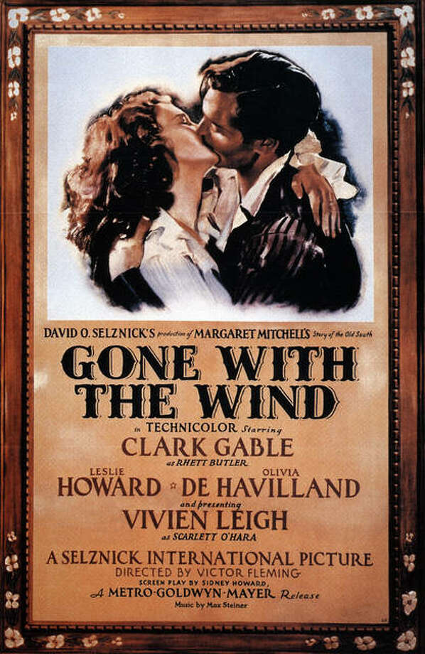 "The movie poster from ""Gone with the Wind."" Photo: For The Telegraph"