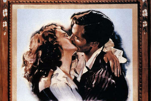 "The movie poster from ""Gone with the Wind."""