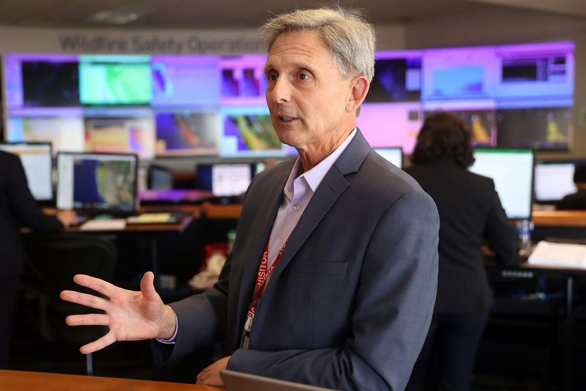Kevin Dasso, PG&E Vice President Electric Asset Management, at PG&E's Wildfire Safety Operations Center in San Francisco, CA on Monday, May 7, 2018.