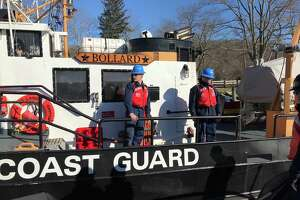 U.S. Sen. Richard Blumenthal took a ride on the U.S. Coast Guard Cutter Pendant in January 2018, departing from Goodspeed Landing in East Haddam. The plan was to head upriver toward Middletown but the East Haddam Swing Bridge was having mechanical problems which diverted traffic on the Connecticut River and over the span itself.
