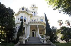 FILE - This Oct. 16, 2015 file photo shows the Old Governor's Mansion State Historic Park in Sacramento, Calif. Gavin Newsom will move his family to Sacramento when he takes over as California governor next week. The decision announced Friday, Jan. 4, 2019 ends speculation about whether the new first family would take up residence in the recently remodeled governor's mansion a few blocks from the state Capitol. (AP Photo/Rich Pedroncelli, File)