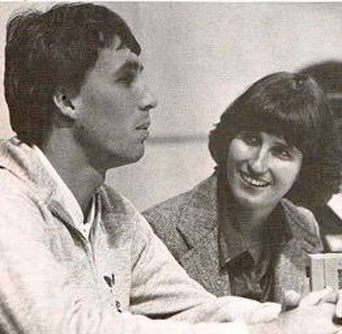 Ginny Apple of the Hartford Courant, interviewing Ivan Lendl in 1982