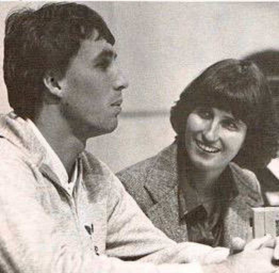 Ginny Apple of the Hartford Courant, interviewing Ivan Lendl in 1982 Photo: Contributed Photo