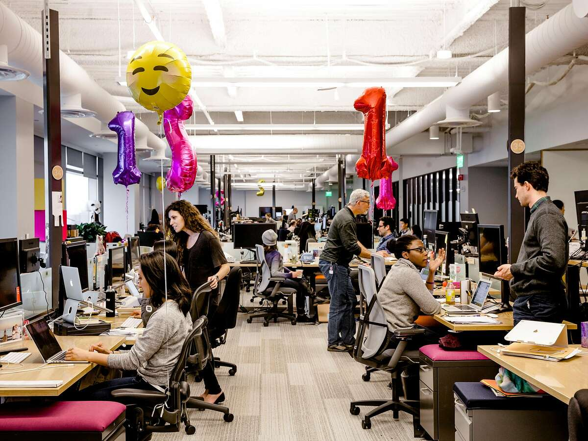 FILE -- Slack Technology's headquarters in San Francisco, Feb. 7, 2017. Some venture capitalists are rooting for a market dip to calm Silicon Valley's overheated startup scene. (Carlos Chavarr�a/The New York Times)