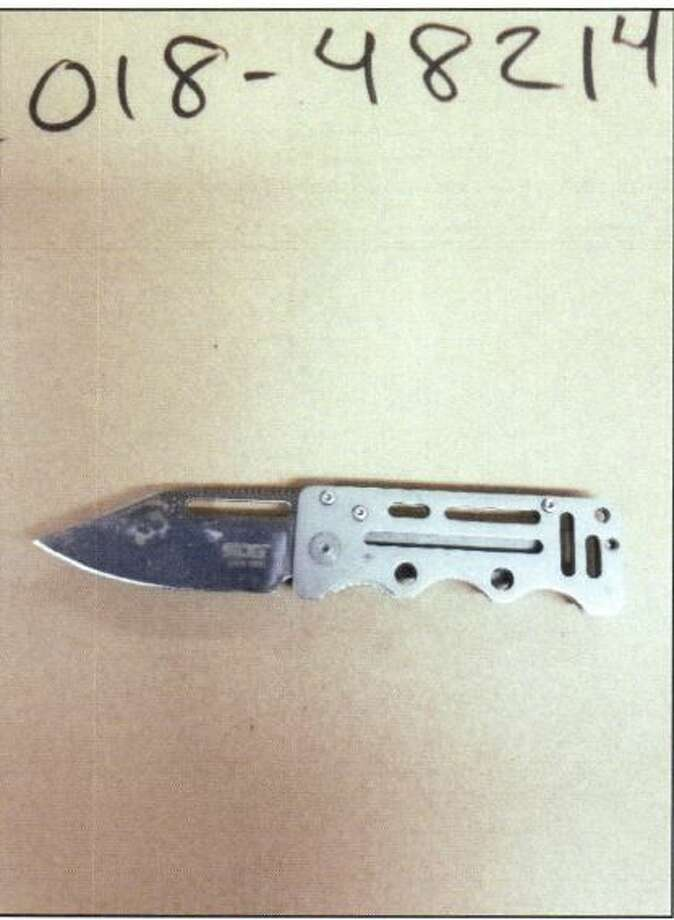 Police say they recovered this knife from 46th Avenue South and South Henderson Street, where 32-year-old Ahmed Abdi-Dahar allegedly claimed he buried the weapon after stabbing a 17-year-old stranger on the street. Photo: Seattle Police Department