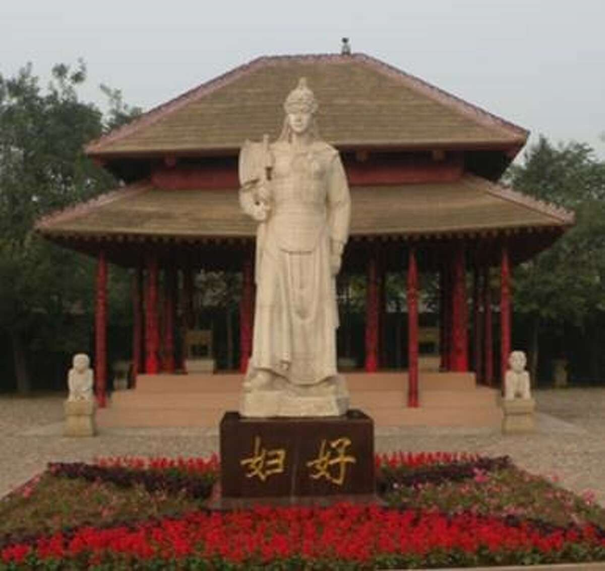 Bob and Nancy Engelhardt-Moore visited the last capital of the Shang Dynasty, one China's largest archaeological sites, and took this photo of the Lady Fu Hao statute. They will be the featured speakers at the Jan. 15 program of the Fort Bend Archeological Society.