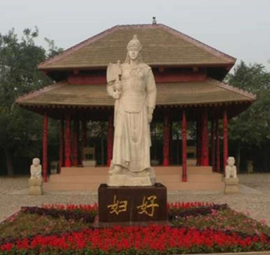 Bob and Nancy Engelhardt-Moore visited thelast capital of the Shang Dynasty, one China's largest archaeological sites, and took this photo of the Lady Fu Hao statute. They will be the featured speakers at the Jan. 15 program of the Fort Bend Archeological Society. Photo: Bob And Nancy Engelhardt-Moore