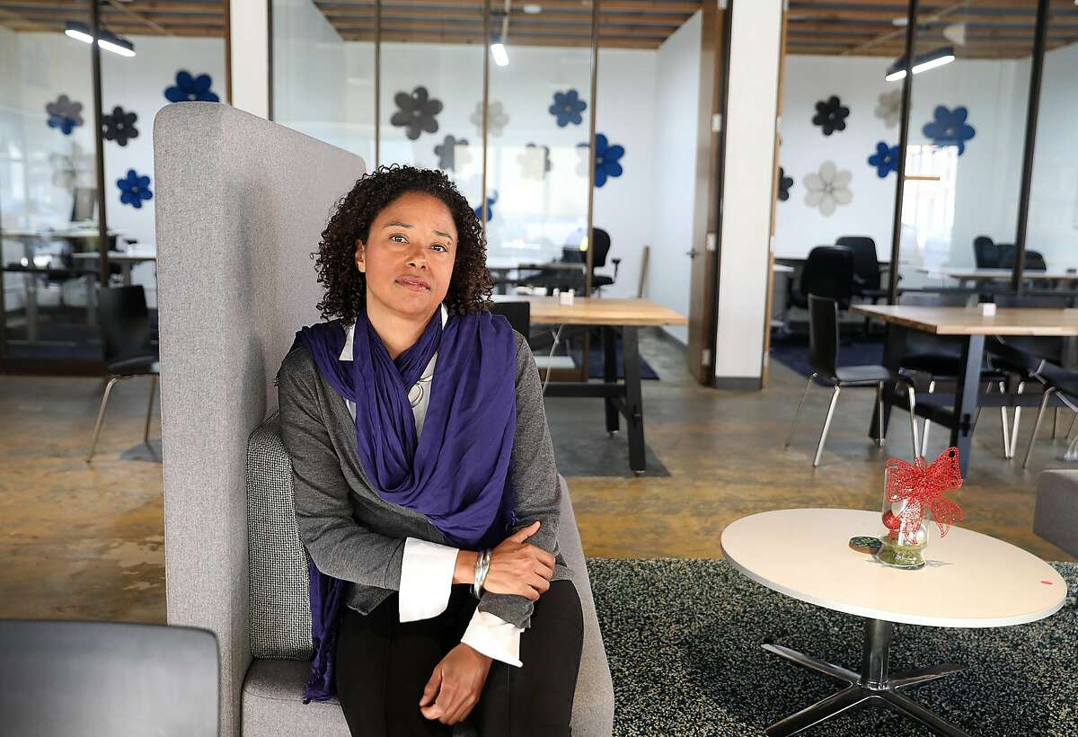 Architect Deanna van Buren is focused on issues of restorative justice, designing spaces to help inmates returning to civilian life and pressured communities that need services as she sits at work on Thursday, Dec. 27, 2018 in Oakland, Calif. She is also the recipient of the 2018 Rupp Prize from UC Berkeley's architecture school, awarded to further additional research.