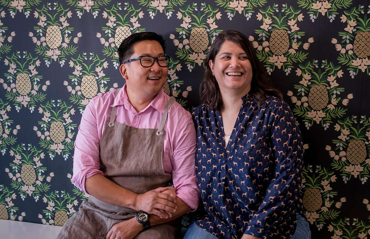 Owners Nick Cho and Trish Rothgeb of Wrecking Ball Coffee Roasters in San Francisco, Calif. are seen on November 14th, 2014.