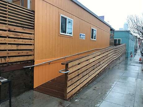 A Navigation Center homeless shelter with 84 beds is opening at Fifth and Bryant streets in San Francisco in January 2019. Photo: Kevin Fagan / SF Chronicle