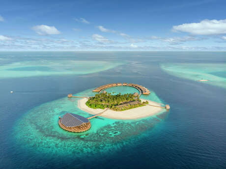 Kudadoo Maldives is on a private island in Lhaviyani Atoll in the Indian Ocean.