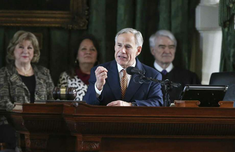 Gov. Greg Abbott addresses the Senate as the 86th State Legislature convenes on Jan. 8, 2019. Photo: Tom Reel, Staff / Staff Photographer / 2018 SAN ANTONIO EXPRESS-NEWS