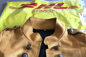 The jacket that arrived by DHL Express on Dec. 31, 2018, did not have any manufacturer?s tag on it, was cheaply made of crummy material and poorly finished. (Photo by Paul Grondahl)