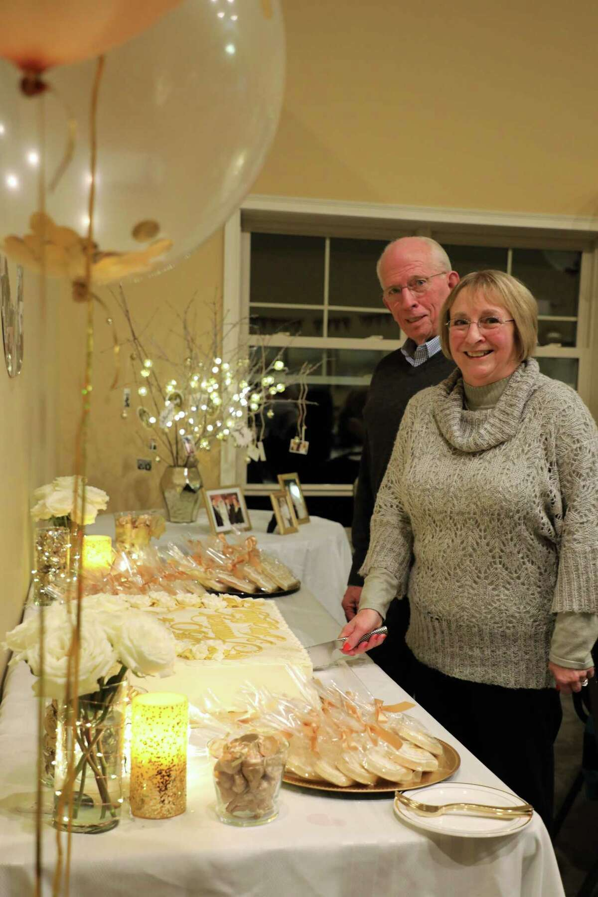 Jim and Shirley Race at a surprise 50th anniversary party at Mill Hollow Apartments, Dec. 28, 2018. (Photo provided)