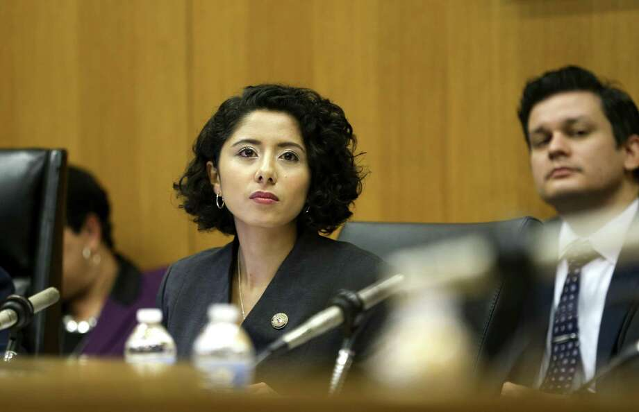County Judge Lina Hidalgo on Tuesday defended the cost of hiring a quartet of New York-based consultants — two at more than $400 per hour — to help with her transition and launch of a massive community engagement effort. Photo: Elizabeth Conley, Houston Chronicle / Staff Photographer / © 2018 Houston Chronicle