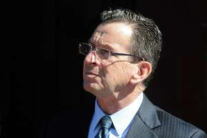 Gov. Dannel P. Malloy was to finish his two terms on the day after moving into a new house in Essex with his wife, Cathy. He's shown here in Ansonia in 2017.
