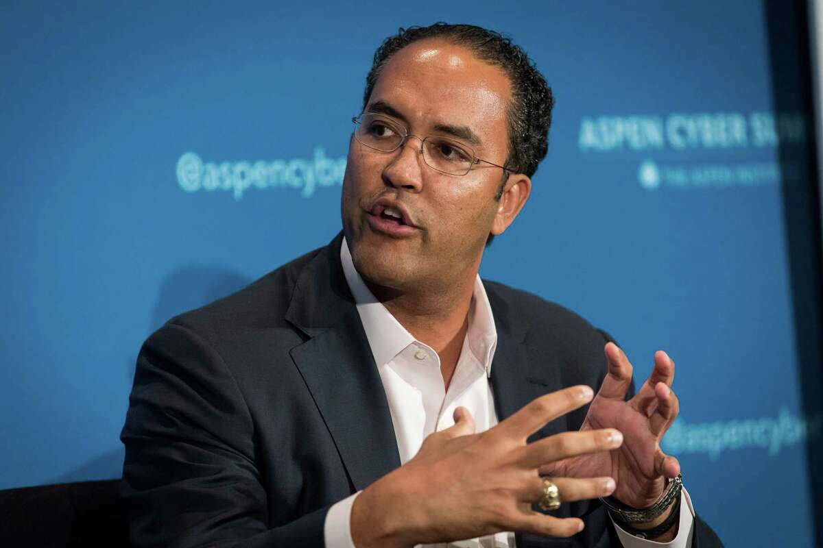 Representative Will Hurd, a Republican from Texas and co-chair of the Aspen Cyber Strategy Group, speaks during the 2018 Aspen Cyber Summit in San Francisco, California, U.S.  The summit brings together influential voices to discuss cybersecurity and policymaking. Photographer: David Paul Morris/Bloomberg