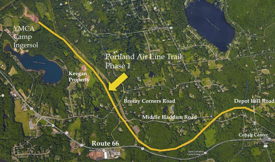 Shown here is part of the Air Line Trail which runs through 12 towns in Connecticut, including Portland and East Hampton. Photo: File Photo