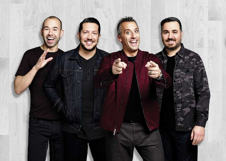"James Murray, left, Sal Vulcano, Joe Gatto and Brian Quinn, of truTV's hit series, ""Impractical Jokers,"" bring their show to Webster Bank Arena in Bridgeport on Jan. 18. Photo: TruTV / Mackenzie Stroh / Contributed Photo"