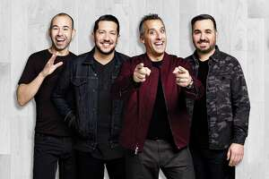 """James Murray, left, Sal Vulcano, Joe Gatto and Brian Quinn, of truTV's hit series, """"Impractical Jokers,"""" bring their show to Webster Bank Arena in Bridgeport on Jan. 18."""