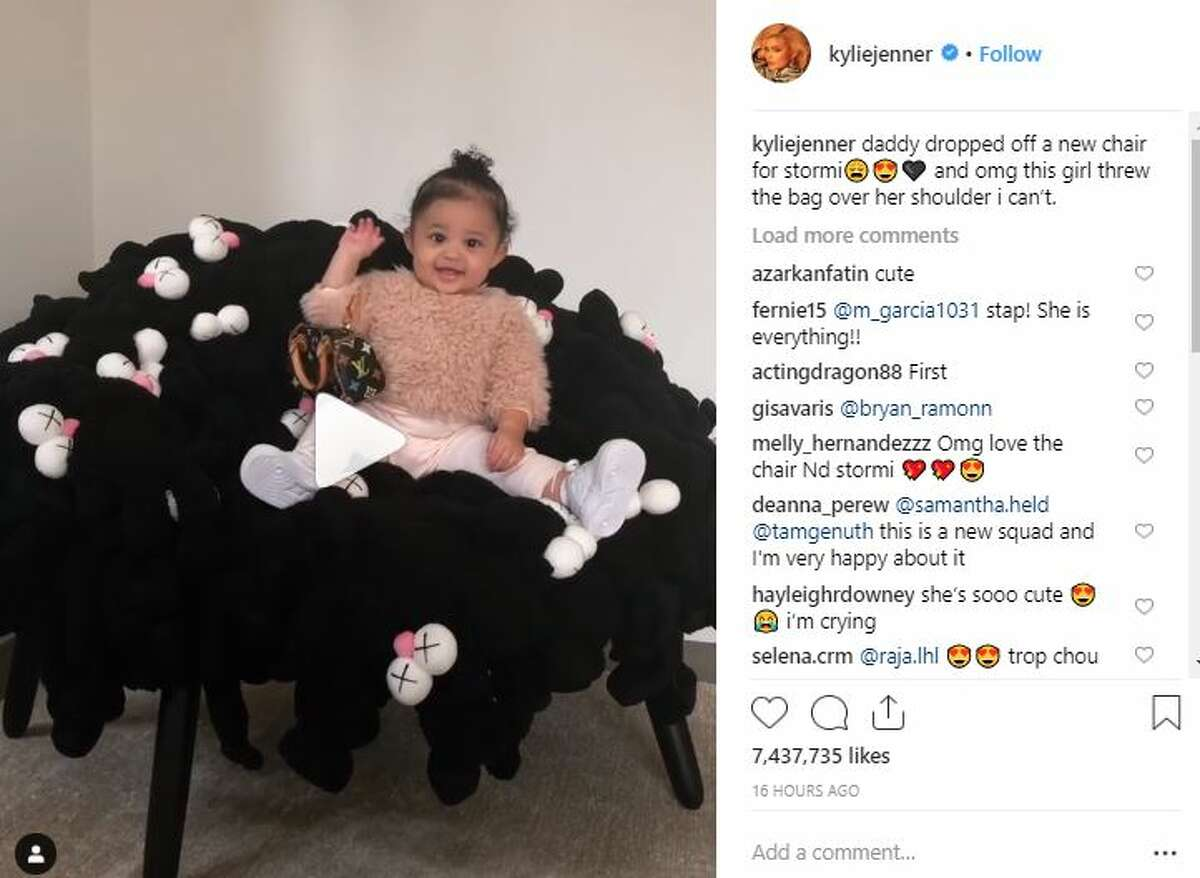 Stormi Webster got a pricey KAWS chair from her father, Travis Scott.