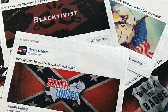 "FILE - This Nov. 1, 2017 file photo shows prints of some of the Facebook ads linked to a Russian effort to disrupt the American political process and stir up tensions around divisive social issues, released by members of the U.S. House Intelligence committee, in Washington. According to a study published Wednesday, Jan. 9, 2019 in Science Advances, people over 65 and conservatives shared far more false information in 2016 on Facebook than others. Researchers say that for every piece of ""fake news"" shared by young adults or moderates or super liberals, senior citizens and very conservatives shared about 7 false items. Experts say seniors might not discern truth from fiction on social media as easily. They say sheer volume of pro-Trump false info may have skewed the sharing numbers to the right.  (AP Photo/Jon Elswick, File)"