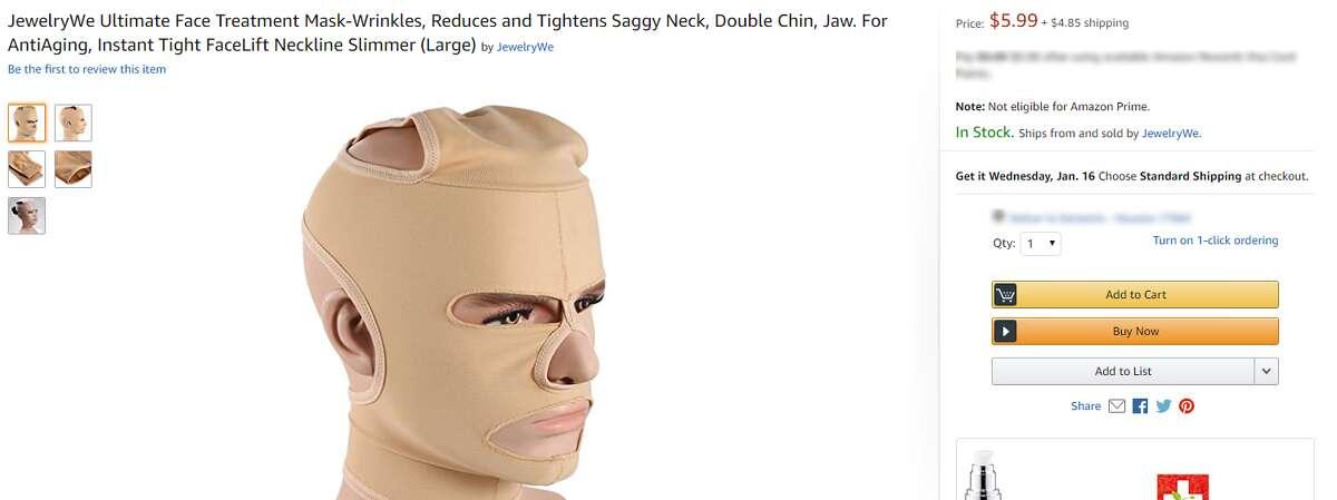 JewelryWe Ultimate Face Treatment MaskNooooooooooo! What is this?!?!?! It cannot be real. (Source: Amazon)