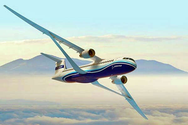 Boeing's new passenger jet design has trusses to hold up its wide wings.
