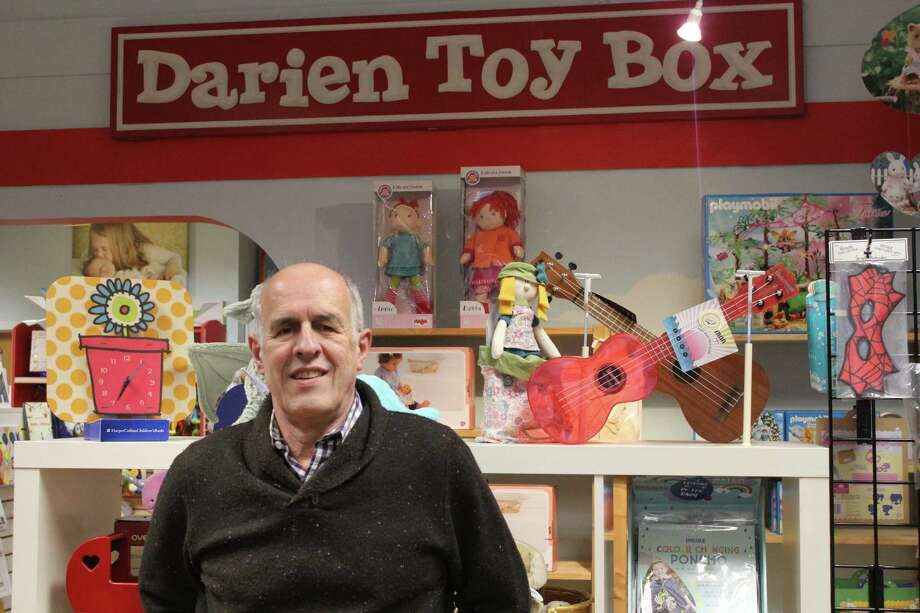 Bill Jensen, owner of the Darien Toy Box. Taken Jan. 8. Photo: Lynandro Simmons /Hearst Connecticut Media