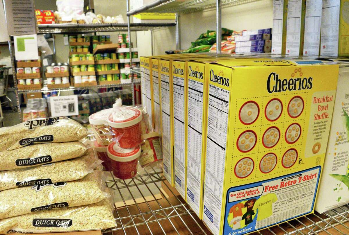 Food stuffs at the Food Pantry at Unity House of Troy Inc. Friday June 2, 2017 in Troy, NY. (John Carl D'Annibale / Times Union)