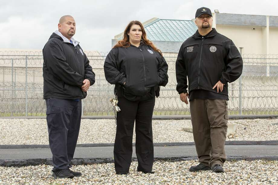 The federal government shutdown has forced workers for the federal government, including Jose Lau (left), Samantha Strack and Ed Canales, all employees at the Federal Correctional Institution, Dublin, to make tough choices to make ends meet. Photo: Santiago Mejia / The Chronicle