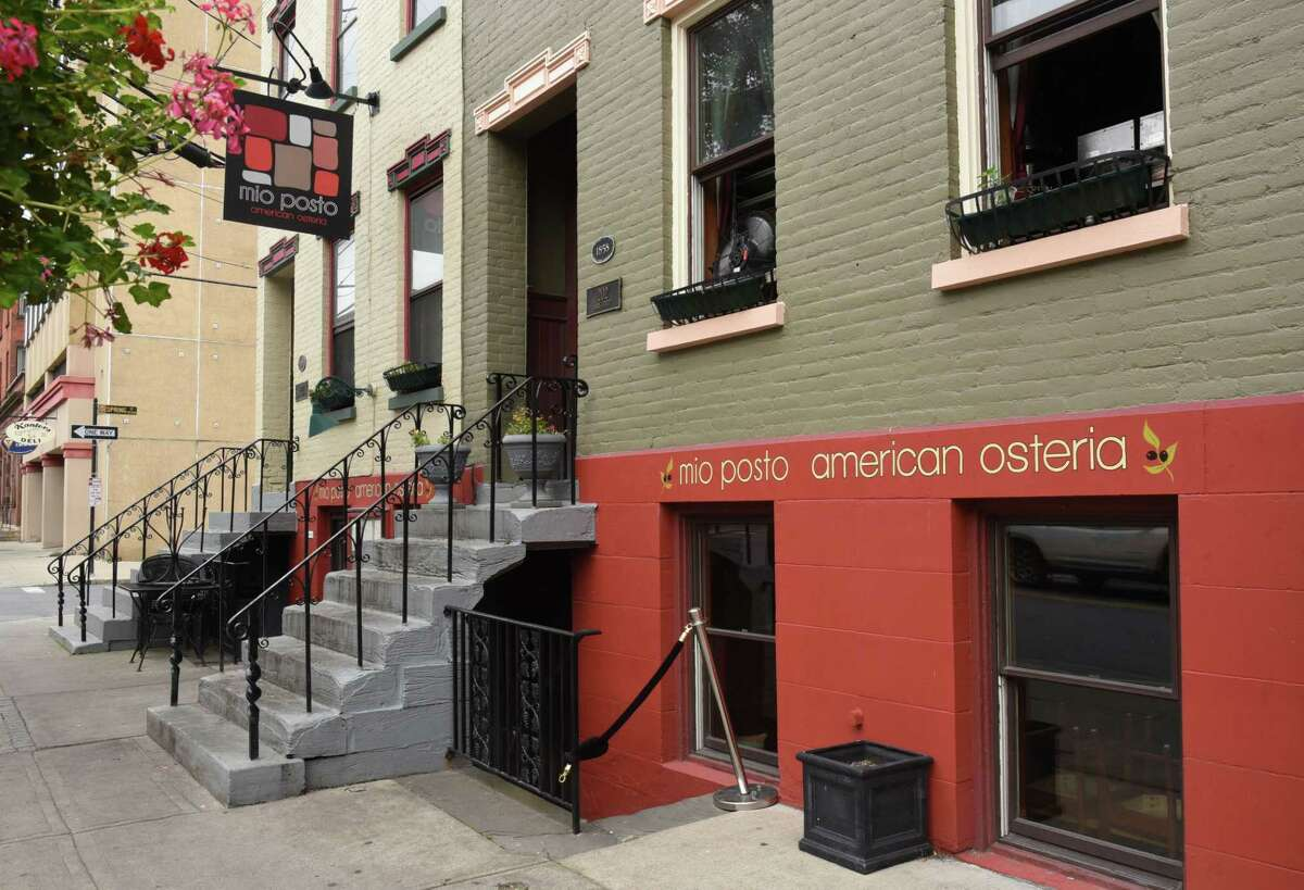 The basement and back-patio space at 200 Lark St. in Albany is becoming a wine bar again.  (Lori Van Buren / Times Union)