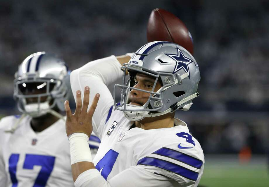 Dallas Cowboys quarterback Dak Prescott warms ups before the wild-card game Saturday against the Seattle Seahawks. A reader says Dak haters should take a break after his performance in that game. Photo: Ron Jenkins /Associated Press / Copyright 2019 The Associated Press. All rights reserved.