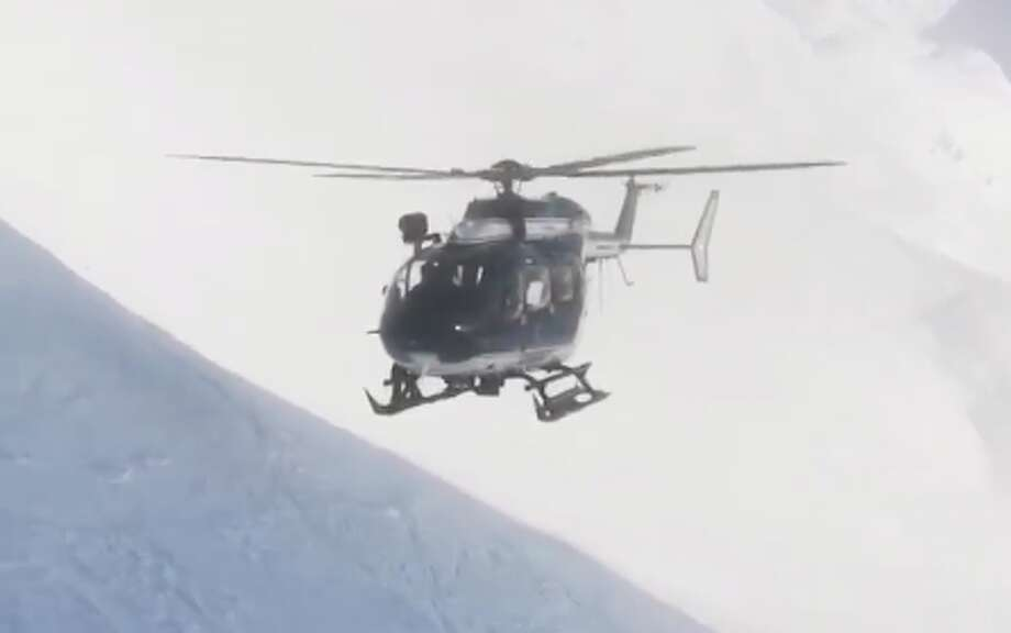 Nicolas Derely captured an amazing helicopter rescue in France earlier this month. Photo: Nicolas Derely/Video Screenshot
