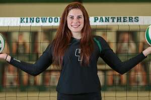 """Kingwood Park's Elizabeth """"Libby"""" Overmyer is the All-Greater Houston Volleyball Player of the Year Tuesday, Jan. 8, 2019, in Kingwood."""