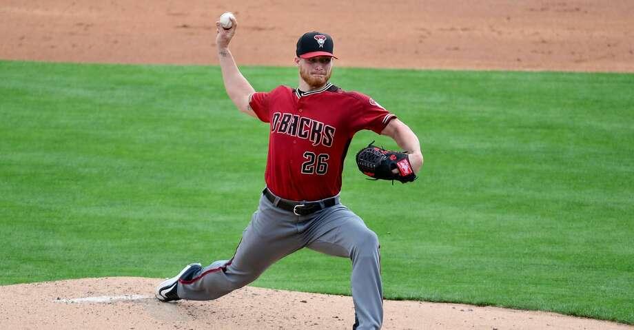 GLENDALE, AZ - MARCH 05: Shelby Miller #26 of the Arizona Diamondbacks delivers a pitch against the Los Angeles Dodgers in the second inning during the spring training game at Camelback Ranch on March 5, 2016 in Glendale, Arizona. (Photo by Jennifer Stewart/Getty Images) Photo: Jennifer Stewart/Getty Images