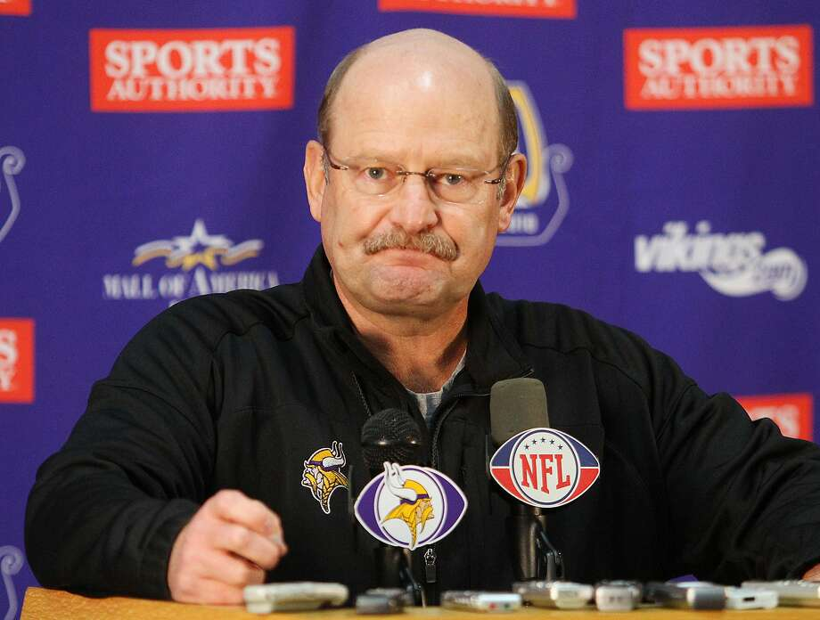 Minnesota Vikings head coach Brad Childress addresses the media during a news conference at the team's NFL football training facility in Eden Prairie, Minn., Wednesday, Nov 3, 2010.(AP Photo/Andy King) Photo: Andy King / ASSOCIATED PRESS