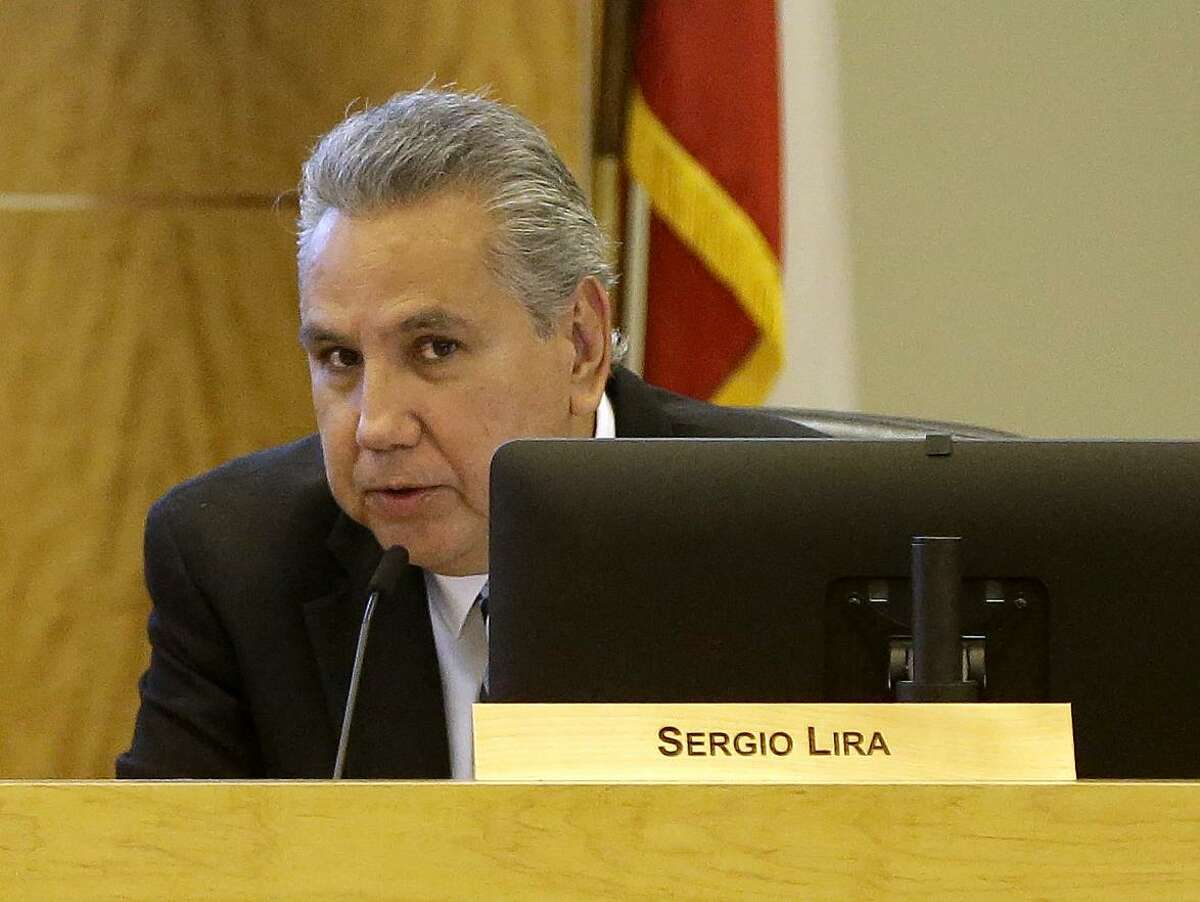 HISD Trustee Sergio Lira, shown here in 2018, filed for reelection Monday.