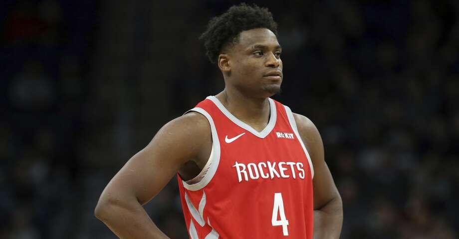 Houston Rockets' Danuel House Jr. plays against the Minnesota Timberwolves in an NBA basketball game Monday, Dec. 3, 2018, in Minneapolis. (AP Photo/Jim Mone) Photo: Jim Mone/Associated Press