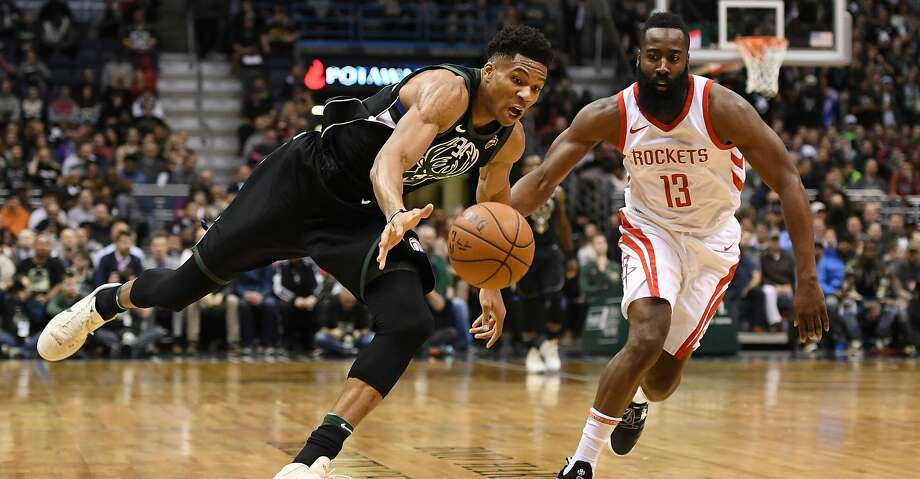 PHOTOS: Rockets game-by-game Giannis Antetokounmpo #34 of the Milwaukee Bucks drives around James Harden #13 of the Houston Rockets during a game at the Bradley Center on March 7, 2018 in Milwaukee, Wisconsin. (Photo by Stacy Revere/Getty Images) Browse through the photos to see how the Rockets have fared in each game this season. Photo: Stacy Revere/Getty Images