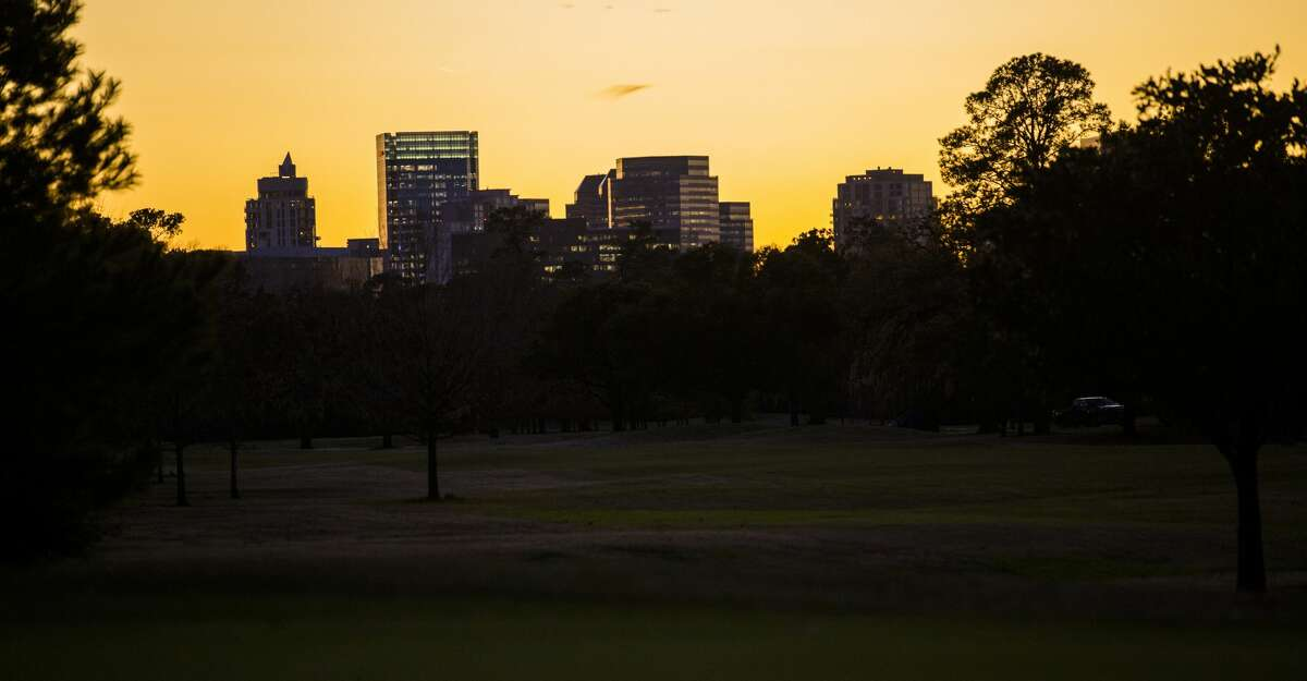 View of the Texas Medical Center from the Memorial Park Golf Course before the golf course closes for renovations, Wednesday, Jan. 9, 2019, in Houston.