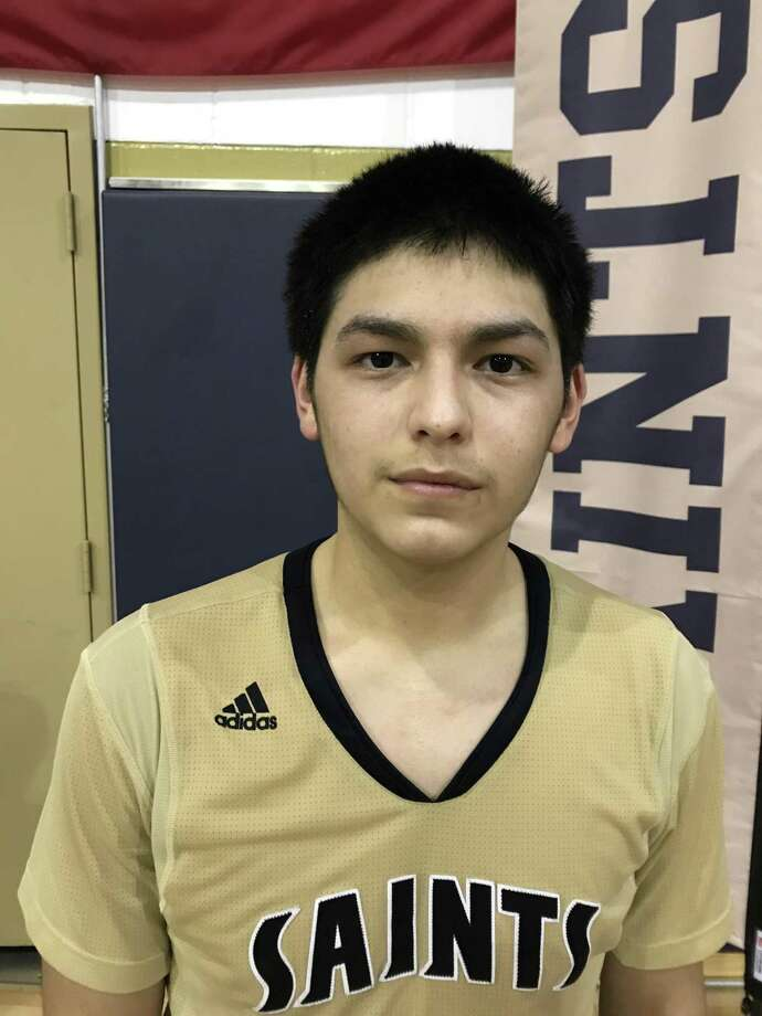 Jacobi Flores, the former San Jacinto Intermediate player, spoiled Pasadena-First Baptist Christian Academy's district opener Tuesday night by dropping in 34 points. The two teams meet two more times in district. Photo: Robert Avery