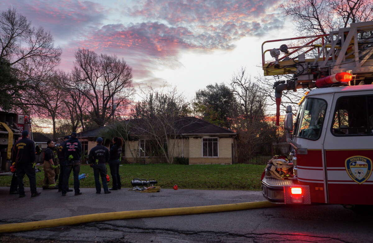 Houston Fire Department firefighters extinguished a residential fire at 5601 Milart Street Thursday, Jan. 10, 2019, in Houston.
