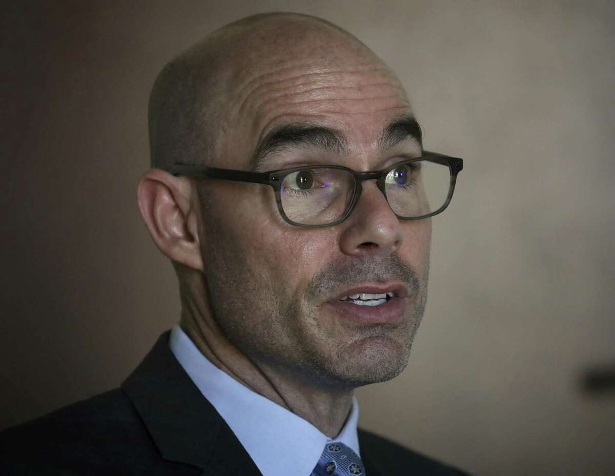 Presumptive Texas House Speaker Dennis Bonnen speaks about his new position, on Friday, Jan. 4, 2019, in Austin, TX.