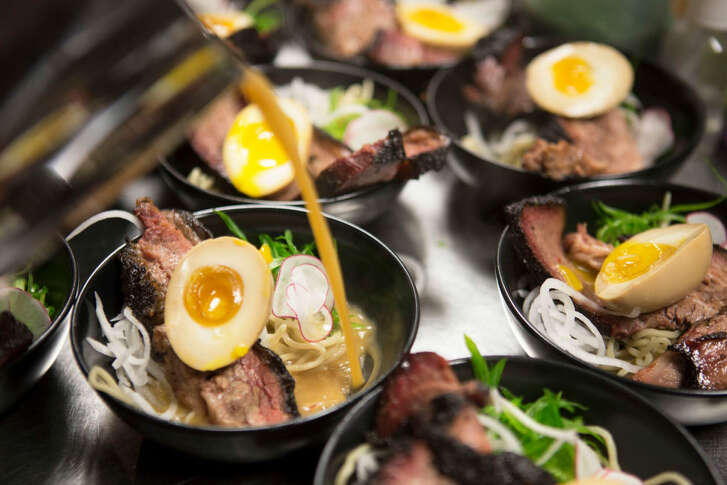 Brisket and ramen from one of chef Austin Simmons' CollaborEIGHT dinner series. HIs ned one is Jan. 14 with chef John Tesar.